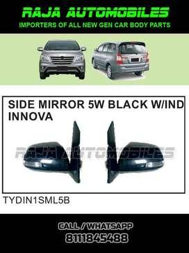 Innova Type4 Side Mirror with Indicator Black Body