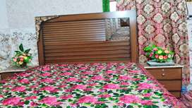 Bed (King Size) + Side Tables + Dressing table for Sale