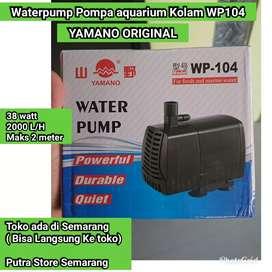 Pompa aquarium Yamano WP 104 Waterpump Kolam 38 watt 2000 L / H