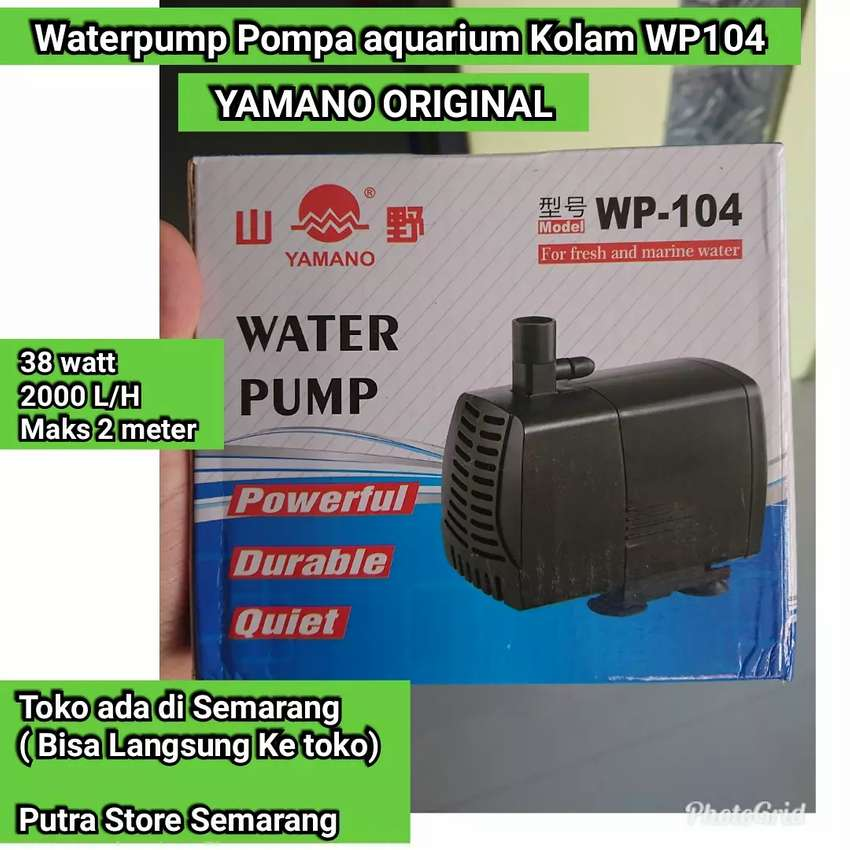 Pompa aquarium Yamano WP 104 Waterpump Kolam 38 watt 2000 L / H 0