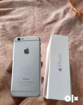 Iphone 6 silver 64 with box headphone charger full complete❤️