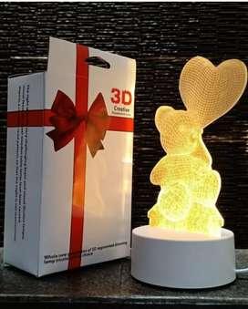Lampu tidur 3D motif