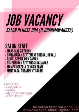 Staff Salon Blown Away Bali