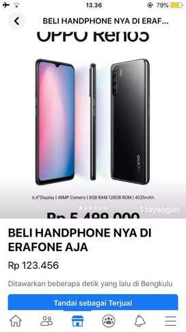 Handphone bergaransi resmi