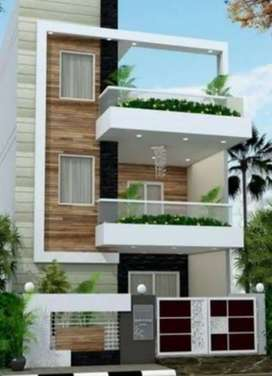 Newly built house with elegant entrance