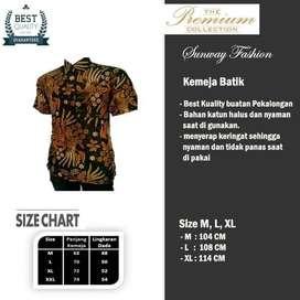 AM0052 Harga Promo COD Baju Kemeja Batik cowok Pria Kualitas terjamin