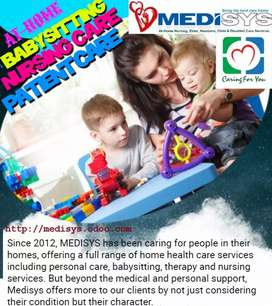 MEDISYS  providing babysitting, Nanny, maid and patient care services