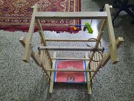 Bird cage of teak and neem wood
