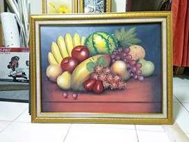Buah-buahan 70 x 90 Lukisan di atas kanvas asli