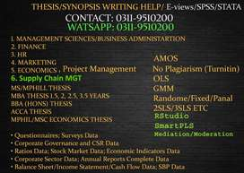 MS/MPhil/MPA/MBA Thesis Writing Help (Within Month: 15,000-30,000 Fee)