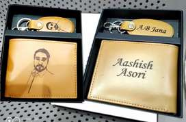Name Wallet & key chain with Photo