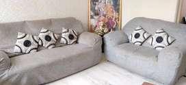 7 Seater Comfortable Grey Colour Sofa Set