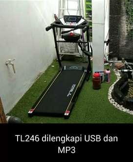 Treadmill elektrik sport 1 hp  treadmill dng  2fungsi Tl246