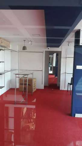 Office for rent in 1 st floor road & front view