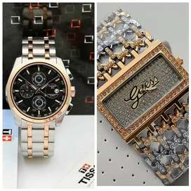 All Branded women's men watches available with all chronography workin