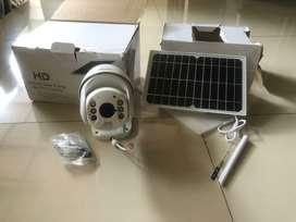 Cctv wanscam Hw00296 support 3G/4G sim pakai panel surya kondisi baru