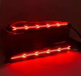 Lampu LED mata kucing bumper model panah garis Innova Camry Fortuner