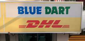 Delivery executive for blue dart