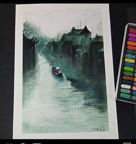 Street view painting