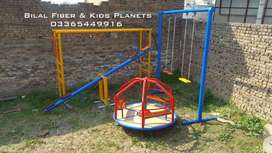 Swings, climber,monkey bar and seesaw