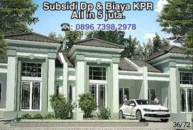 Rumah asri subsidi dp dan biaya kpr di panorama bali residence