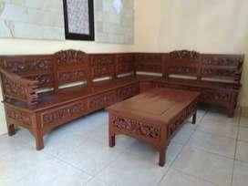 Soffa kayu sudut