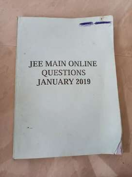 Jee main 2019 question paper&answers