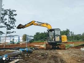 Aspal hotmix jalan beton pengurugan  puin land clearing cut and fill