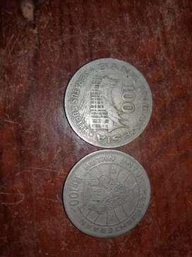 Koin 100 gunungan 1978