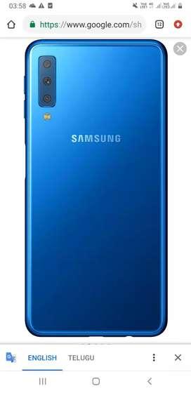 Samsung A 7 4gb ram and 128 GB rom