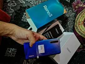 New modal  Oppo reno 3 pack condition