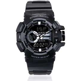 Jam tangan SKMEI/Original/Dual time/Grey/Waterproof/Water resist/Sport