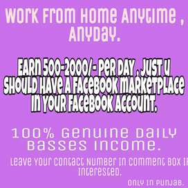 Earn From Home By Using Your Facebook.