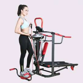 treadmill manual 6 fungsi black