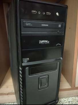 CPU with Asus motherboard, 4GB ram, 500gb hdd