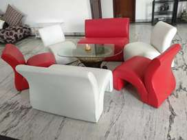 Nxt new Generation red n white sofa