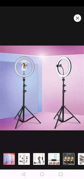 Ring light with stand stand size 10 inch 26 cm