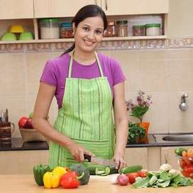 Required cook + maid in KK nagar