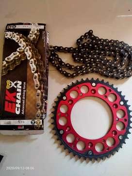 Rantai sultan EK chain X ring SRX2 520 BLACK GOLD