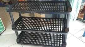 Almari Lemari Rak Buku Sepatu Plastik Susun Tingkat 3 4 5 Plastik
