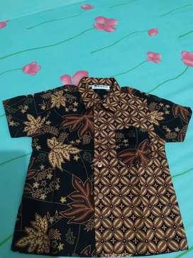 Preloved batik keris anak cowok size 1-2th