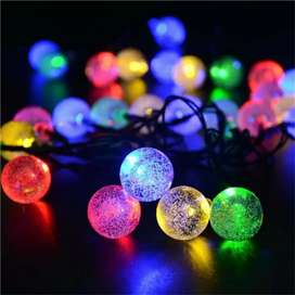 LAMPU NATAL HIAS / LAMPU TUMBLR LED RAINBOW MOTIF BOLA CRYSTAL