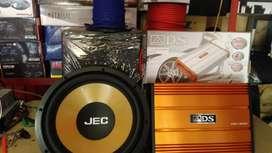 Power 4 chnl watt gedde, Subwoofeer 12 inchi,Box sub, Instalasi+psang