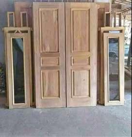 Promo pintu, kusen, jendela, dan aneka furniture mebel lainya.