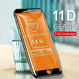 11D Tempered Glass for Mobile Models Rs.35 Only