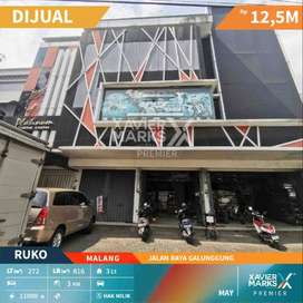 Dijual Ruko 4 Gandeng 3 Lantai Jalan Raya Galunggung Malang