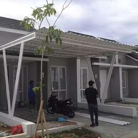 Kanopi/carport minimalis atap galvalum~ atap alderon
