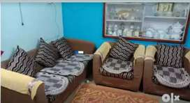 Sofa set brown color