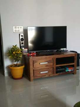 Pure sheesham solid wood TV cabinet