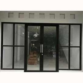 PINTU KACA ALUMINIUM (amanah glass & aluminium) KT 515
